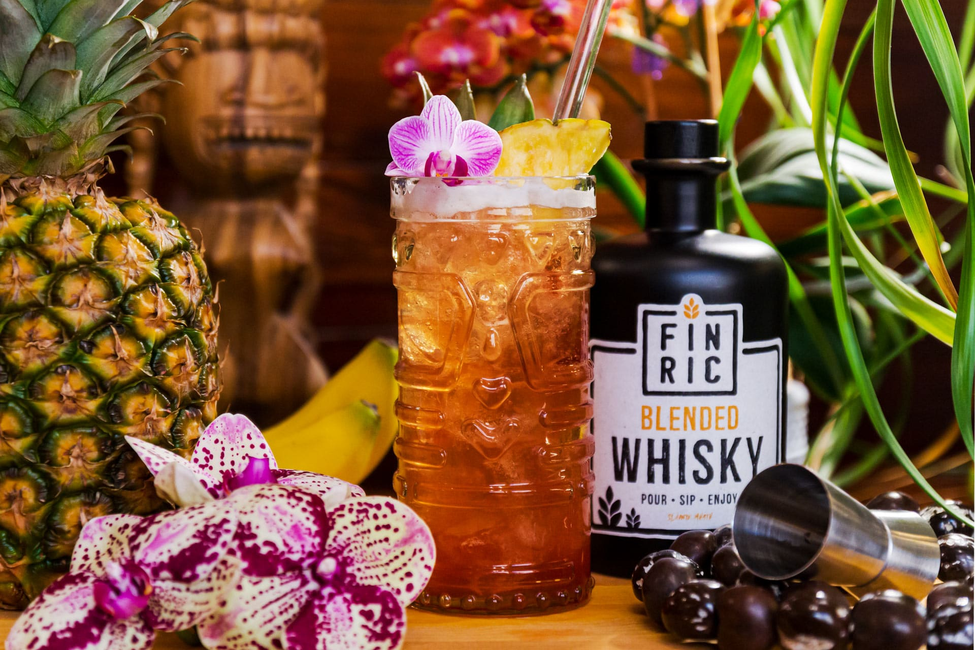 FINRIC Tiki - Whisky Cocktail - Der stylische Sommerdrink - Tiki Cocktail